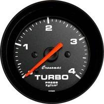 Manômetro Pressão Turbo 4kg Street Preto Led Cronomac
