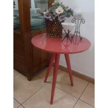 Mesa Decorativa Mesinha Canto Tripé Laqueada / Laminada Nova