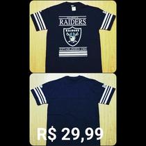 Kit 3 Camisetas Masculino - Raiders - Kings Manga Curta