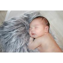 Manta Pelúcia Pelo Longo Newborn 50cm X 80cm