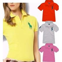 Kit 03 Polo Feminina Camiseta Ralph Hollister Preço/atacado