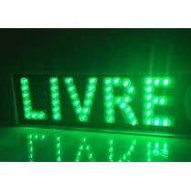 Luminoso De Leds Para Taxi- A Palavra -- L I V R E --interno