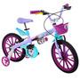 Bicicleta Aro 16 Frozen Lilas - Bandeirante