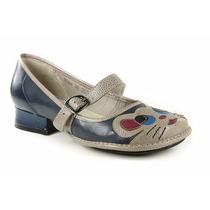 Sapato J.gean Aj0054 Em Couro Blue