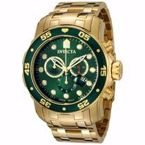 Relógio Masculino Invicta Pro Diver 0075 Dourado Original
