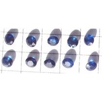 Dal Corsi Safira Azul 3mm Redondas 10 Pedras Legitimas