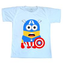 Camiseta Infantil Série Especial Minions Heróes