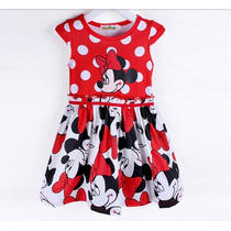 Vestido Basico Vermelho Minnie - Infantil