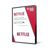 Cartão Presente Netflix R$ 30 Reais Assinatura Pré-pago