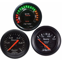 Hallmeter Racetronix + Pressão Óleo + Temperatura Água 52mm