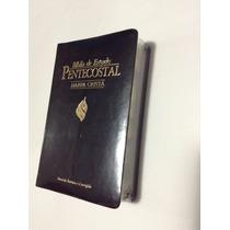 Biblia De Estudo Pentecostal + Harpa Crista - Média