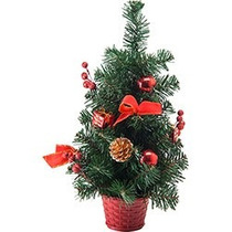 Arvore De Natal 42cm Com Enfeite Luxo