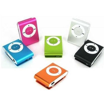 Mp3 Player Mini Shuffle Clip Micro Sd Suporta Até 8gb