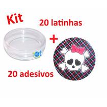 Kit Lembrancinha Monster High Latinha Acrílica Melhor Preço