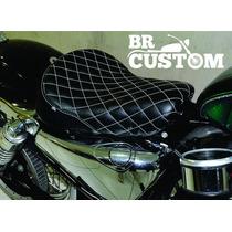 Banco Solo Diamond Preto/branco Harley/sportster/883/iron/48