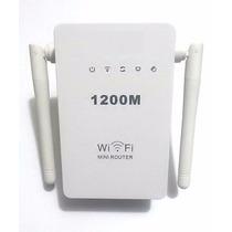 Repetidor E Roteador 1200mbps 2 Antena Amplificador Sem Fio