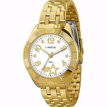 Relógio Lince Dourado Feminino (orient) Lrgk031l Prova Dágua