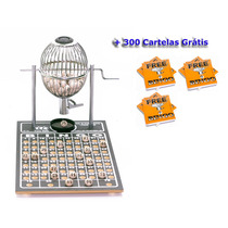 Globo Bingo Profissional Nº1 Com 300 Cartelas
