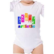 Body Baby Artistico Musica Dança Teatro Grafite Personalizad