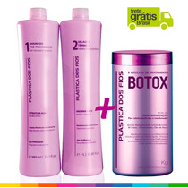 Combo Plástica Dos Fios Selagem Progressiva + Botox + Frete