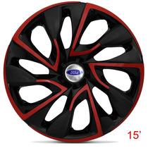 Calota Aro 15 Red Ds4 Ford Ka Fiesta Focus Escort Ecosport