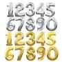Balão Numeros Dourado Prata Metalizado + Frete 10,00