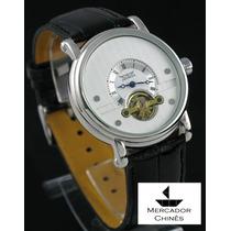 Relógio Importado Jaragar Branco Automático Turbilhão