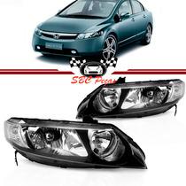 Farol Honda New Civic 07 08 09 10 11 Par