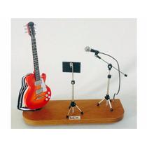 Set De Guitarra Les Paul Partitura Microfone 1:4 Tudomini