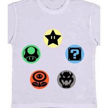 Camiseta Infantil Mario Bros - Games Nintendo