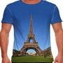 Camiseta França Torre Eiffel Masculina