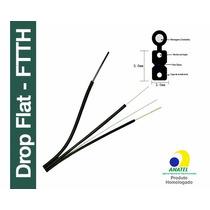 Fibra Optica Drop Flat Ftth Lowfriction 1fo Homologado 1km