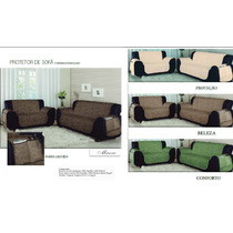 Capa Protetor Sofa Matelado 3 E 2 Lugares Objetos + Brinde