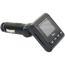 Transmissor Fm Veicular Mp3 Knup Cartão Sd Usb P2 Nav Pastas