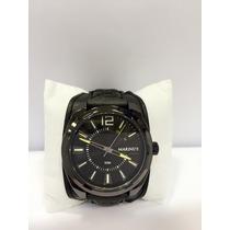 Relógio Masculino Bracelete De Couro Com Caixa Frete Grátis