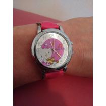 Relógio Infantil Hello Kitty Lindo!