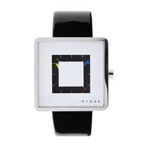 Relógio Hygge 2089 Series Pulseira De Couro Envernizado - B