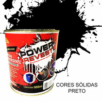 Envelopamento Liquido - Power Revest - Preto Fosco Lata 1/4