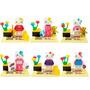 Pacote C/ 6 Miniaturas Hello Kitty - Compatível Lego