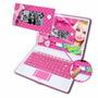 Laptop Da Barbie Infantil Destacável 120 Atividades Bilíngue