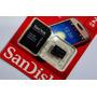 Cartão De Memória Micro Sd 2 Gb Sandisk Lacrado + Adapta 3d@