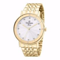 Relógio Champion Feminino Dourado Original - Líder De Vendas