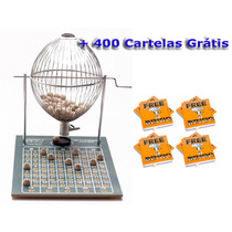 Bingo Completo Globo Cromado Nº3 + 300 Cartelas
