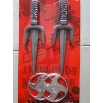 Fantasia Armas Ninja Dragão Vermelho 2 Punhais 2 Estrelas