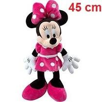 Boneco Pelucia Minnie Mouse Rosa Disney 45cm Antialergico