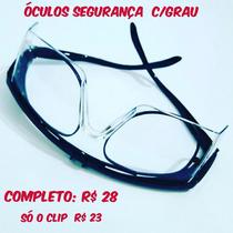 Óculos De Segurança Com Clip Para Grau