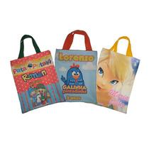 10 Sacolinhas Personalizadas Vários Temas Tecido Alça Bag