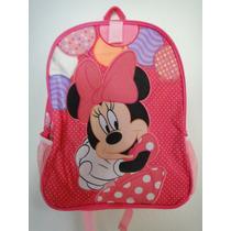 Disney Mochila Da Minnie Rosa Importada Original Nova ##