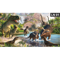 Dinossauros Painel 3,00x1,70m Lona Festa Banner Aniversário