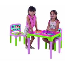 Mesa Para Estudo Mesinha Infantil Com 2 Cadeiras Show Luna